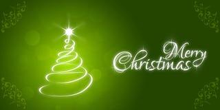 Weihnachtsmann auf einem Schlitten Beschriftung der frohen Weihnachten Lizenzfreies Stockfoto