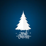 Weihnachtsmann auf einem Schlitten Beschriftung der frohen Weihnachten mit Christma Lizenzfreie Stockfotos
