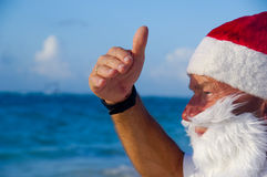 Weihnachtsmann auf Ferien stockbilder