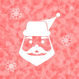 Weihnachtsmann auf geblendetem Dreieckhintergrund Stockbilder
