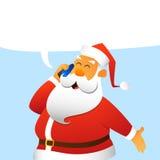 Weihnachtsmann-Aufrufe Stockbild