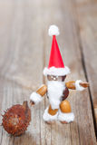 Weihnachtsmann bildete von den Kastanien, Eicheln, Bucheckern Lizenzfreie Stockfotografie