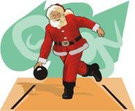 Weihnachtsmann-Bowlingspiel Stockbilder