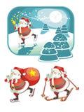 Weihnachtsmann in den action_Christmas Stockfotografie