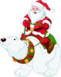Weihnachtsmann, der auf dem Strand sich entspannt Lizenzfreie Stockfotos