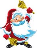 Weihnachtsmann, der Bell spielt Stockbild