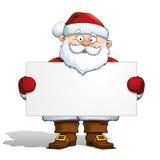 Weihnachtsmann, der einen Kennsatz anhält vektor abbildung