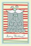 Weihnachtsmann, der Ihnen frohe Weihnachten wünscht Lizenzfreies Stockfoto