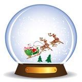 Weihnachtsmann in der Kugel Stockfotos