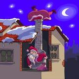 Weihnachtsmann in der Mühe Stockbilder
