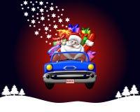 Weihnachtsmann In Einem Auto Stock Abbildung Illustration Von