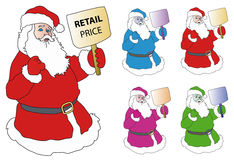 Weihnachtsmann-Einkaufen Lizenzfreies Stockfoto