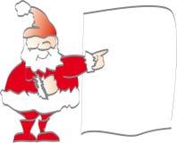 Weihnachtsmann fördert Stockbild