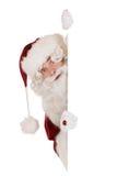 Weihnachtsmann-Fahne stockfotos