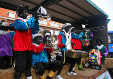 Weihnachtsmann-Festival in Holland Stockfotografie