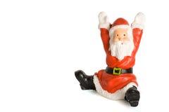 Weihnachtsmann-Figürchen getrennt Stockfoto