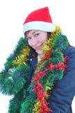 Weihnachtsmann-Frau Stockbild
