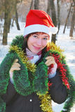 Weihnachtsmann-Frau Lizenzfreies Stockfoto