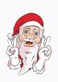 Weihnachtsmann-Friedenshaltung Stockfotos