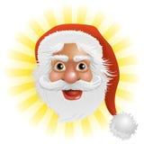 Weihnachtsmann-Gesicht Lizenzfreie Stockfotos