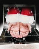 Weihnachtsmann-Hände Lizenzfreies Stockbild