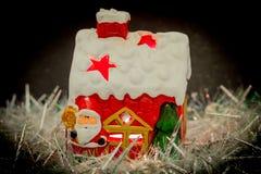 Weihnachtsmann-Haus Lizenzfreie Stockfotos