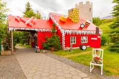 Weihnachtsmann-Haus Island Lizenzfreie Stockfotografie