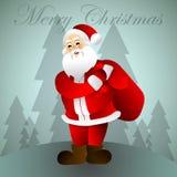 Weihnachtsmann _2 Hundekopf mit einem netten glücklichen und unverschämten Lächeln getrennt auf einem weißen Hintergrund Weihnach Stockfotografie
