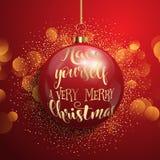 Weihnachtsmann-Hut mit Baumkugeln vektor abbildung