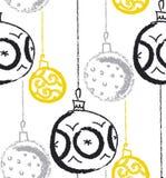 Weihnachtsmann-Hut mit Baumkugeln Saisonwinterdekoration Vektor Stockfotografie