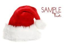 Weihnachtsmann-Hut mit Copyspace Lizenzfreie Stockfotos