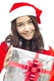 Weihnachtsmann-Hut mit grauem Weihnachten stockfotos