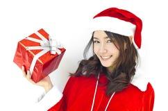 Weihnachtsmann-Hut mit grauem Weihnachten lizenzfreie stockbilder