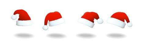 Weihnachtsmann-Hutsatz Stockbild