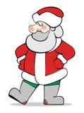 Weihnachtsmann im Rot Lizenzfreies Stockfoto
