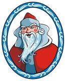 Weihnachtsmann im Winterfeld Lizenzfreies Stockfoto