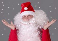 Weihnachtsmann ist überrascht Stockfotografie