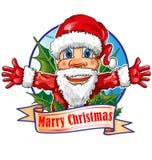 Weihnachtsmann-Karikatur Lizenzfreies Stockfoto