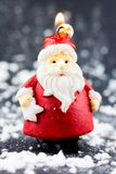 Weihnachtsmann-Kerze Lizenzfreies Stockfoto
