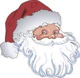 Weihnachtsmann-Kopf Stockfoto