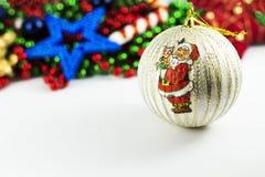 Weihnachtsmann-Kugel Stockfoto
