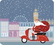 Weihnachtsmann in London Lizenzfreies Stockfoto