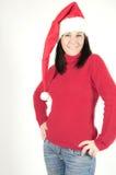 Weihnachtsmann-Mädchen Stockfotos
