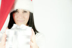 Weihnachtsmann-Mädchen Lizenzfreies Stockbild