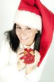 Weihnachtsmann-Mädchen Stockfotografie