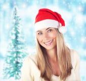 Weihnachtsmann-Mädchen Lizenzfreies Stockfoto