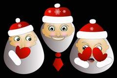 Weihnachtsmann mit Bartillustration Weihnachtshippie-Plakat für Partei- oder Grußkarte fröhlicher Kunstdesignhintergrund Stockbild