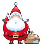 Weihnachtsmann mit Beutel. stock abbildung