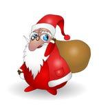 Weihnachtsmann mit Beutel lizenzfreie abbildung
