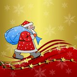 Weihnachtsmann mit dem Sack von Geschenken Lizenzfreie Stockfotos